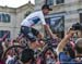 Chris Froome attracted cheers and boos 		CREDITS:  		TITLE: Giro d Italia 		COPYRIGHT: Rob Jones/www.canadiancyclist.com 2018 -copyright -All rights retained - no use permitted without prior; written permission