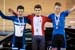 Dylan Bibic; Jacob Rubuliak; Matthias Giullemette 		CREDITS:  		TITLE: 2018 Junior, U17 and Para Track Nationals 		COPYRIGHT: ?? 2018 Ivan Rupes