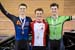 Ethan Ogrodniczuk; Riley Pickrell; Tyler Davies 		CREDITS:  		TITLE: 2018 Junior, U17 and Para Track Nationals 		COPYRIGHT: ?? 2018 Ivan Rupes