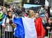 French animals had a lot to cheer about 		CREDITS:  		TITLE: 2018 La Bresse MTB World Cup 		COPYRIGHT: Rob Jones/www.canadiancyclist.com 2018 -copyright -All rights retained - no use permitted without prior; written permission