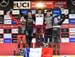 Elite Men Final Overall World Cup podium: Loris Vergier, Danny Hart, Amaury Pierron, Troy Brosnan, Laurie Greenland  		CREDITS:  		TITLE: 2018 La Bresse MTB World Cup 		COPYRIGHT: Rob Jones/www.canadiancyclist.com 2018 -copyright -All rights retained - no