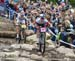 Emily Batty (Can) Trek Factory Racing XC and Jolanda Neff (Sui) Kross Racing Team 		CREDITS:  		TITLE: 2018 La Bresse MTB World Cup 		COPYRIGHT: Rob Jones/www.canadiancyclist.com 2018 -copyright -All rights retained - no use permitted without prior; writt