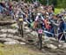 Batty nearly comes off 		CREDITS:  		TITLE: 2018 La Bresse MTB World Cup 		COPYRIGHT: Rob Jones/www.canadiancyclist.com 2018 -copyright -All rights retained - no use permitted without prior; written permission