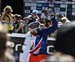 Rachel Atherton (Great Britain) waves to the fans 		CREDITS:  		TITLE: 2018 MTB World Championships, Lenzerheide, Switzerland 		COPYRIGHT: Rob Jones/www.canadiancyclist.com 2018 -copyright -All rights retained - no use permitted without prior; written per