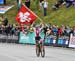 Alessandra Keller (Switzerland) wins 		CREDITS:  		TITLE: 2018 MTB World Championships, Lenzerheide, Switzerland 		COPYRIGHT: Rob Jones/www.canadiancyclist.com 2018 -copyright -All rights retained - no use permitted without prior; written permission