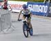 Zoe Cuthbert had the unenviable task of holding off Nino Schurter 		CREDITS:  		TITLE: 2018 MTB World Championships, Lenzerheide, Switzerland 		COPYRIGHT: Rob Jones/www.canadiancyclist.com 2018 -copyright -All rights retained - no use permitted without pr