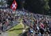 The swiss crowd was HUGE 		CREDITS:  		TITLE: 2018 MTB World Championships, Lenzerheide, Switzerland 		COPYRIGHT: Rob Jones/www.canadiancyclist.com 2018 -copyright -All rights retained - no use permitted without prior; written permission
