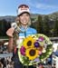 Emily Batty shows off her bronze medal 		CREDITS:  		TITLE: 2018 MTB World Championships, Lenzerheide, Switzerland