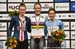 Jennifer Valente, Kirsten Wild, Jasmin Duehring 		CREDITS:  		TITLE: 2018 Track World Championships, Apeldoorn NED 		COPYRIGHT: Rob Jones/www.canadiancyclist.com 2018 -copyright -All rights retained - no use permitted without prior; written permission