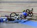 There was a crash late in the Scratch Race 		CREDITS:  		TITLE: 2018 Track World Championships, Apeldoorn NED 		COPYRIGHT: Rob Jones/www.canadiancyclist.com 2018 -copyright -All rights retained - no use permitted without prior; written permission