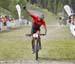 Raphael Gagne finishing 2nd 		CREDITS:  		TITLE: 2018 MTB XC Championships 		COPYRIGHT: Rob Jones/www.canadiancyclist.com 2018 -copyright -All rights retained - no use permitted without prior; written permission