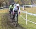 JW: Kelly Lawson (Hardwood Next Wave) leading Nicole Bradbury (NCCH Elite p/b MGCC) 		CREDITS:  		TITLE: 2019 Cyclocross National Championships 		COPYRIGHT: Rob Jones/www.canadiancyclist.com 2019 -copyright -All rights retained - no use permitted without