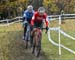 Michael van den Ham (Easton-Giant p/b Transitions Lifecare) and Marc-andre Fortier (Pivot Cycles OTE) establish a gap 		CREDITS:  		TITLE: 2019 Cyclocross National Championships 		COPYRIGHT: Rob Jones/www.canadiancyclist.com 2019 -copyright -All rights re