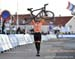 Mathieu van der Poel (Netherlands) celebrates his win 		CREDITS:  		TITLE: 2019 Cyclocross World Championships, Denmark 		COPYRIGHT: Rob Jones/www.canadiancyclist.com 2019 -copyright -All rights retained - no use permitted without prior, written permissio