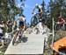 Mathieu van der Poel leads Nino Schurter and Mathias Flueckiger 		CREDITS:  		TITLE: World Cup Lenzerheide, 2019 		COPYRIGHT: Rob Jones/www.canadiancyclist.com 2019 -copyright -All rights retained - no use permitted without prior, written permission