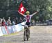 Jacqueline Schneebeli (Switzerland) wins 		CREDITS:  		TITLE: World MTB Championships, 2019 		COPYRIGHT: Rob Jones/www.canadiancyclist.com 2019 -copyright -All rights retained - no use permitted without prior, written permission