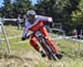 Mark Wallace (Can) Canyon Factory Downhill Team 		CREDITS:  		TITLE: 2019 World Cup Final, Snowshoe WV 		COPYRIGHT: ROB JONES/CANADIAN CYCLIST