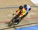 1/16 Heat: Tania Calvo Barbero (Spain) vs Lauriane Genest (Canada) 		CREDITS:  		TITLE: 2019 Track World Championships, Poland 		COPYRIGHT: Rob Jones/www.canadiancyclist.com 2019 -copyright -All rights retained - no use permitted without prior, written pe