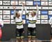 Australia celebrates 		CREDITS:  		TITLE: 2019 Track World Championships, Poland 		COPYRIGHT: Rob Jones/www.canadiancyclist.com 2019 -copyright -All rights retained - no use permitted without prior, written permission
